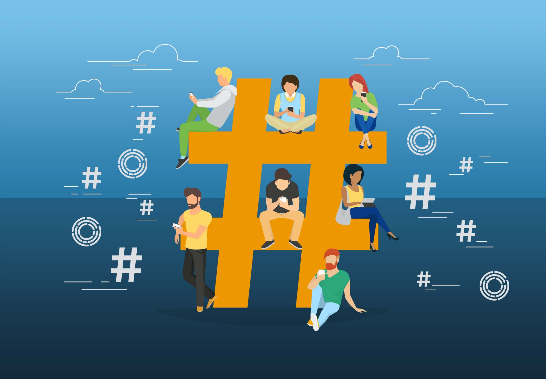 Lets talk about hashtags blueprint business solutions corp socialsharing lets talk about hashtags malvernweather Gallery